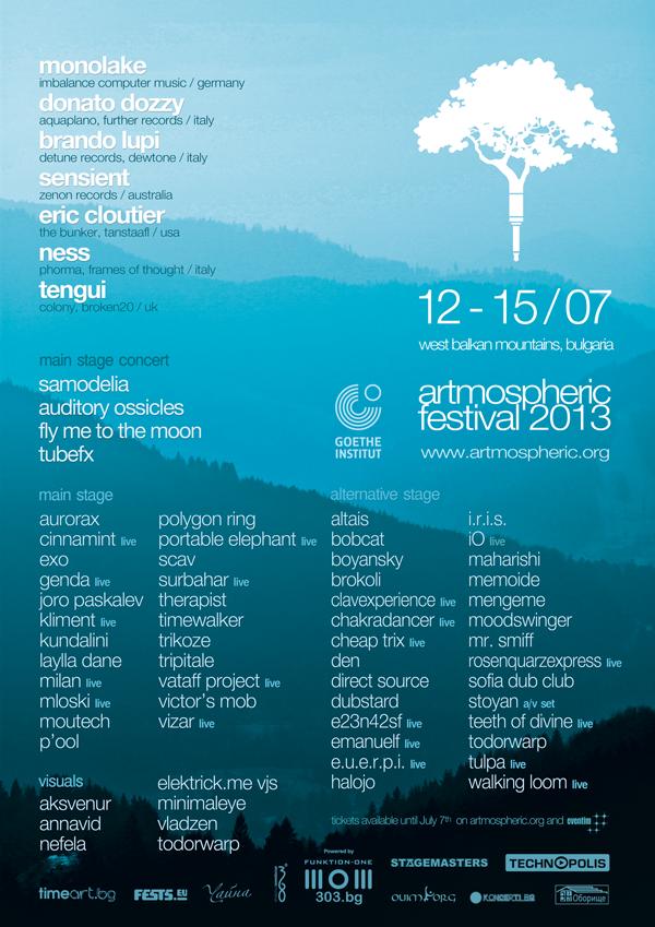 Artmospheric Festival 2013 Poster
