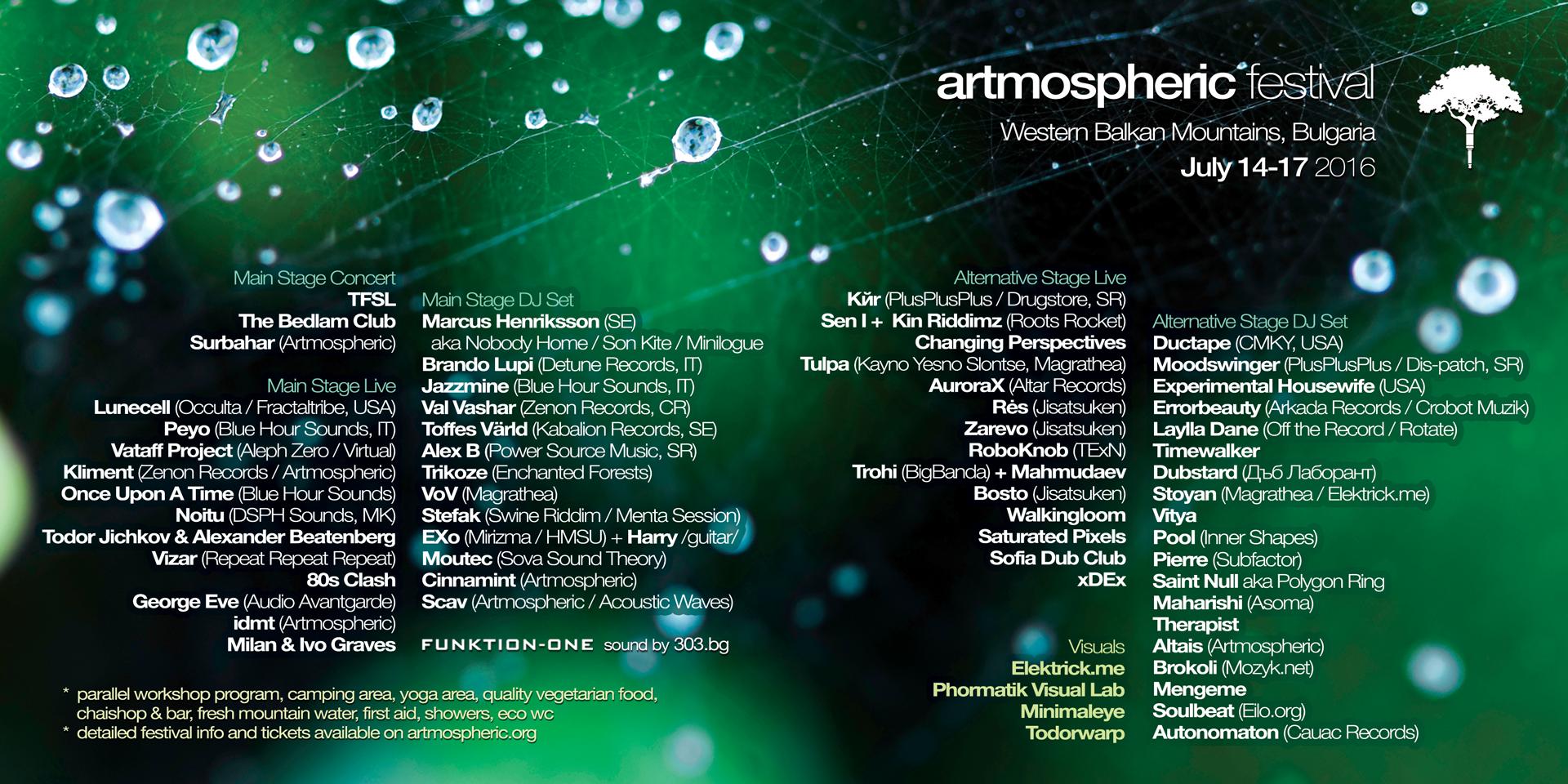 Artmospheric 2016 - tickets